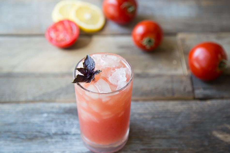 Tomato Purple Basil Vodka Cooler | Fake Food Free