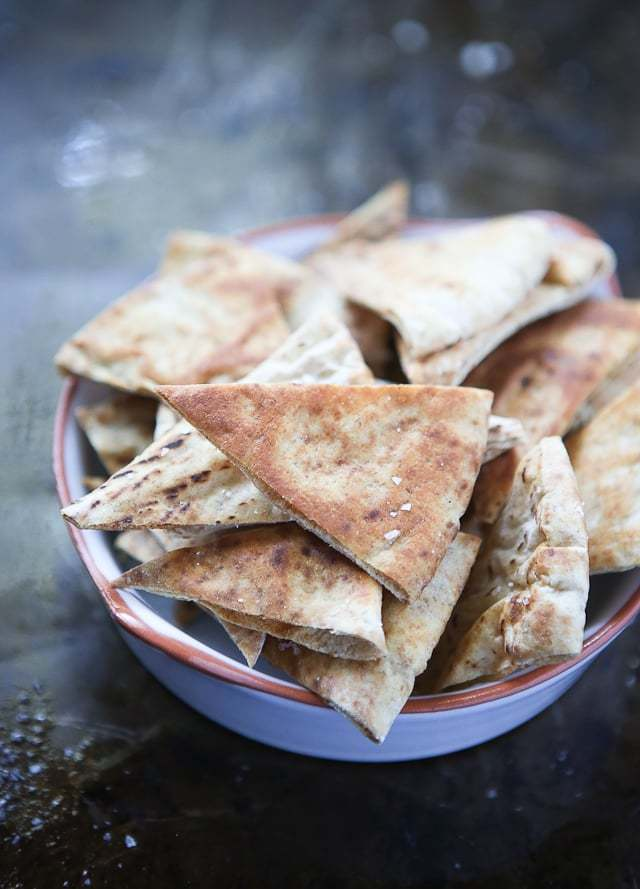 Homemade Baked Pita Chips - Aggie's Kitchen