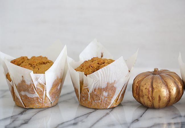 Spicy pumpkin & date muffins