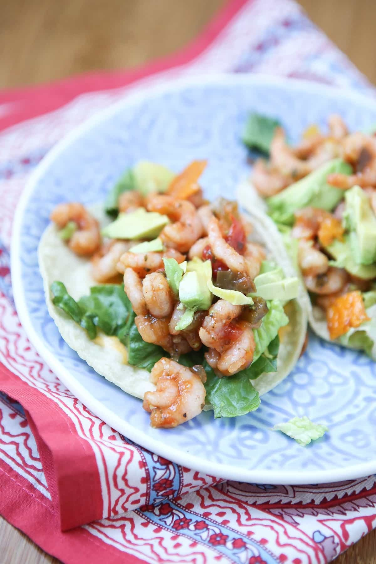 Mango Salsa Shrimp Tacos with Avocado - Aggie's Kitchen