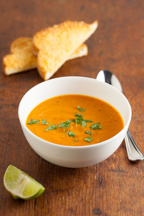 Creamy Carrot Tomato Soup with Chipotle Recipe