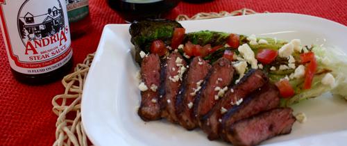 Grilled steak salad grillinfools
