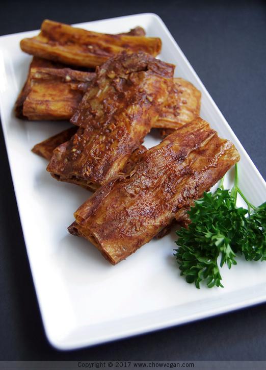 Chinese BBQ Yuba Ribs - Chow Vegan