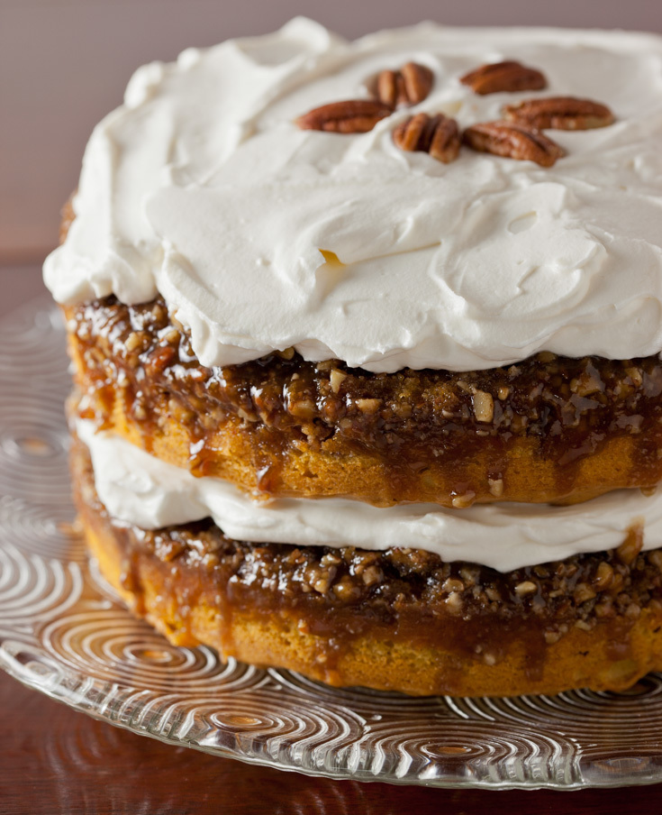 Pumpkin Praline Cake with Whipped Cream Cheese Frosting Recipe