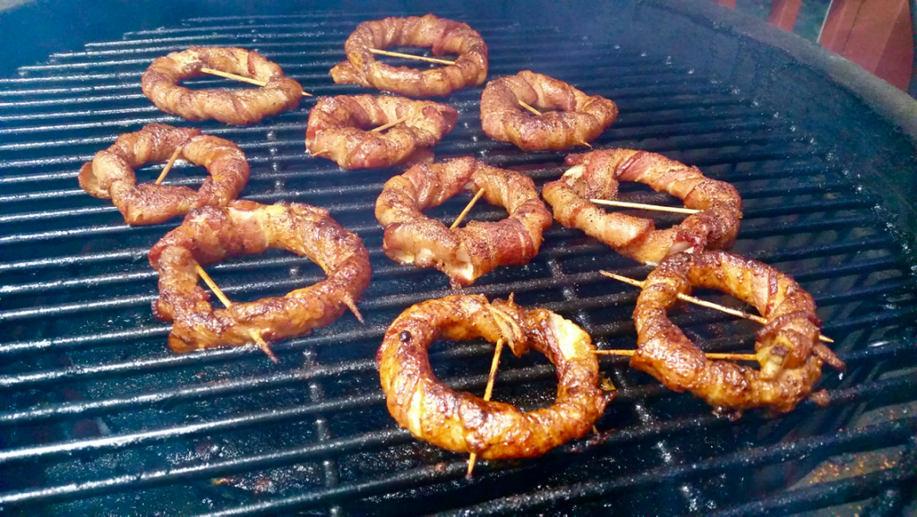 Buffalo Bacon Wrapped Onion Rings | GrillinFools