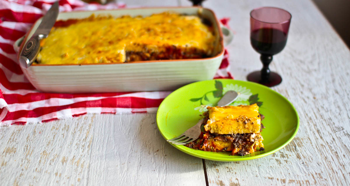 Cheesy Comfort To Feed A Crowd: Polenta Lasagna