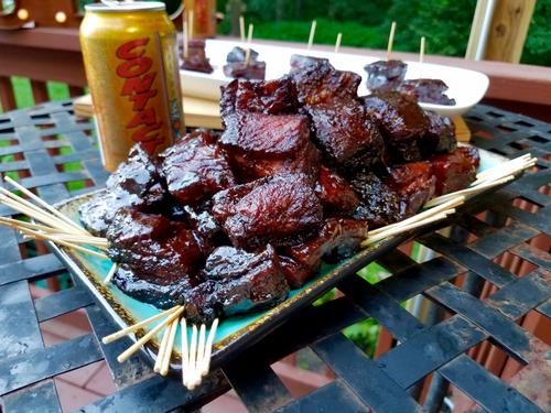Pork belly burnt ends grillinfools