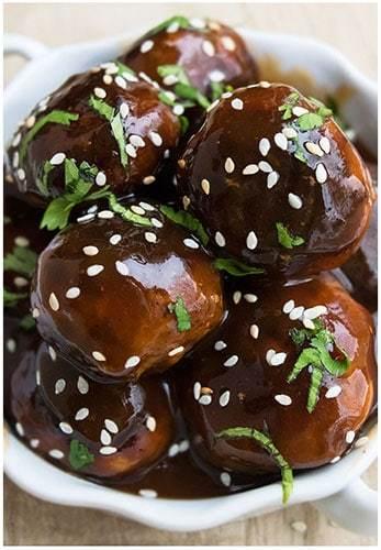 Korean meatballs korean bbq meatballs