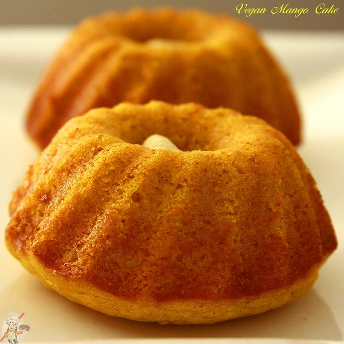 Vegan Mango Cake Recipe | Eggless Cooking