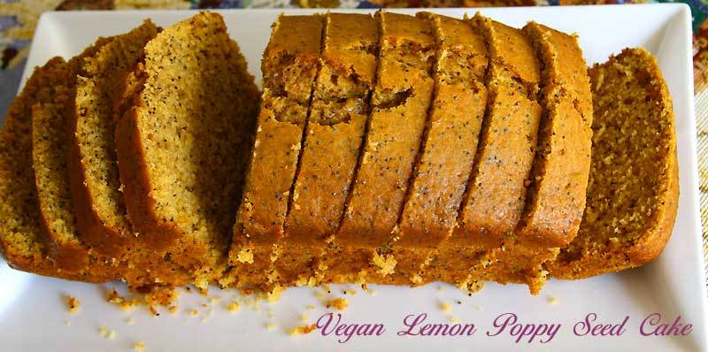 Vegan Lemon Poppy Seed Cake | Eggless Cooking