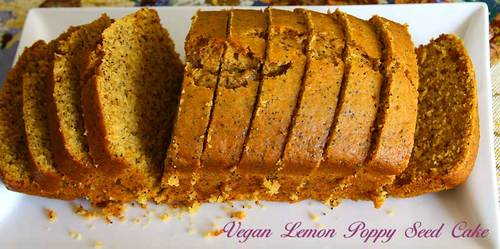 Vegan lemon poppy seed cake eggless cooking