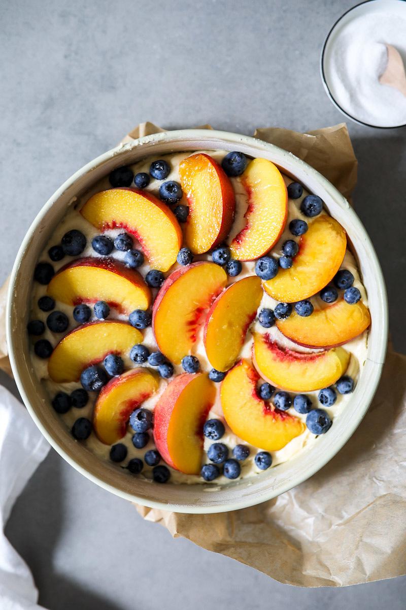 Rezept Pfirsich Blaubeer Kuchen  | Zucker, Zimt und Liebe