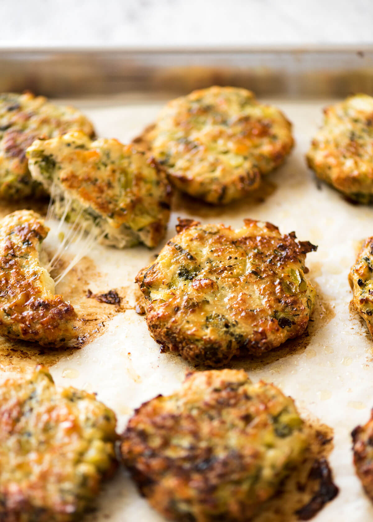 Baked Cheesy Broccoli Chicken Patties | RecipeTin Eats
