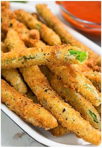 Crispy fried green beans