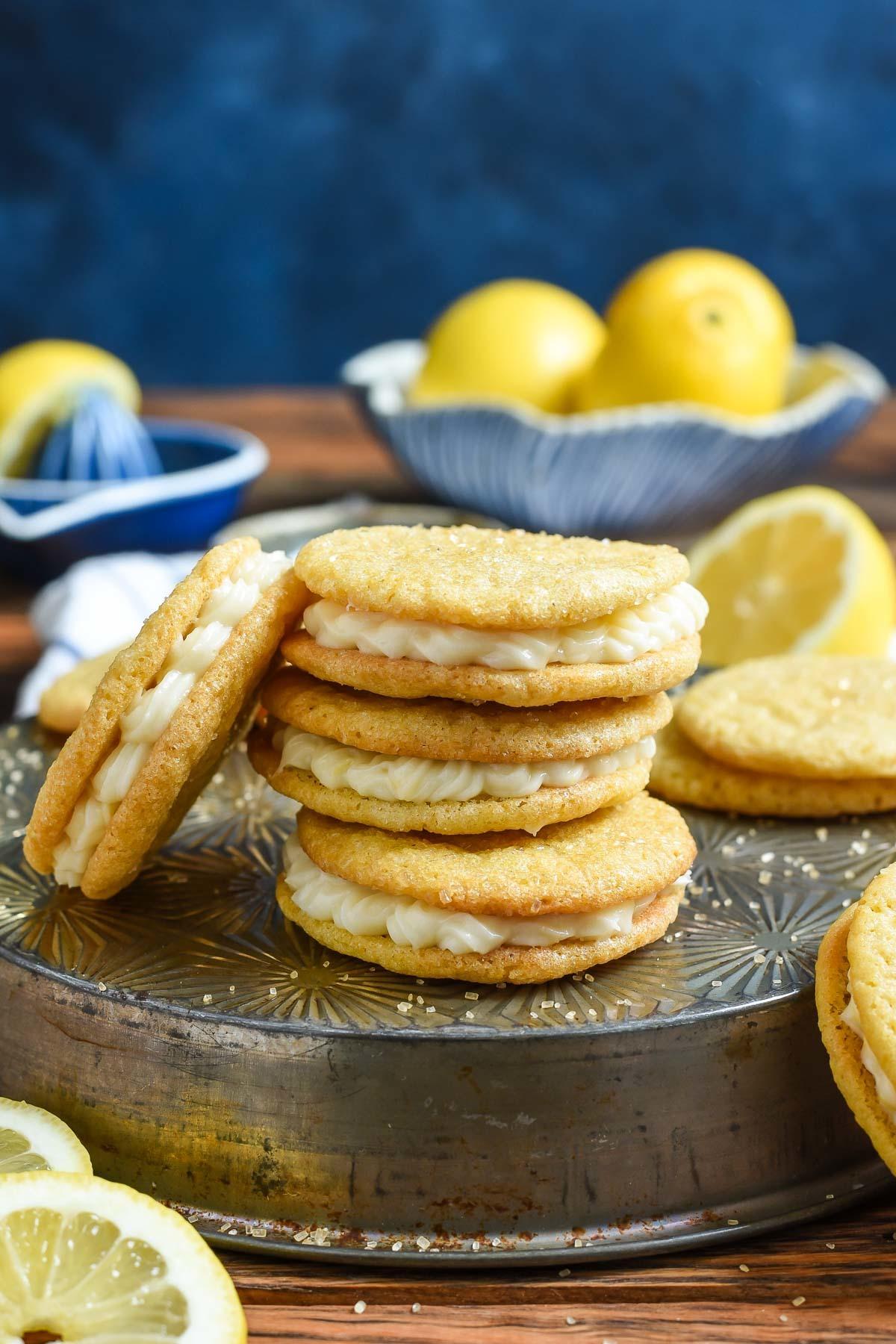Lemon Sandwich Cookies | NeighborFood
