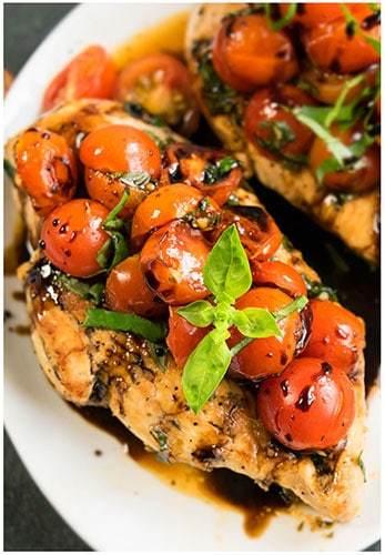 One pot bruschetta chicken recipe