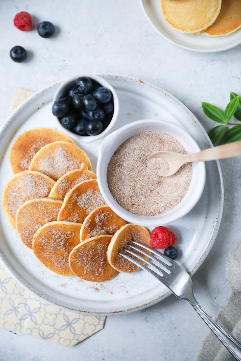 Rezept für die besten Mini Pancakes | Zucker, Zimt und Liebe