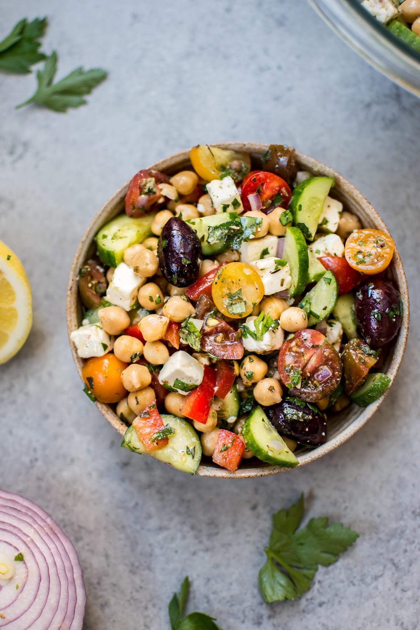 Mediterranean Chickpea Salad • Salt & Lavender