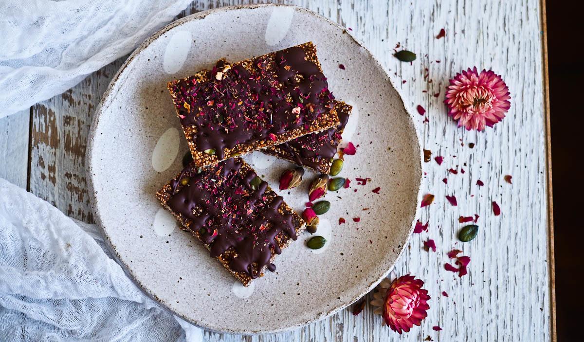 Healthy Dark Chocolate Energy Bars {Gluten & Nut Free!}