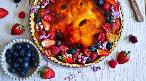 Tart tales creme brulee berry rose tart
