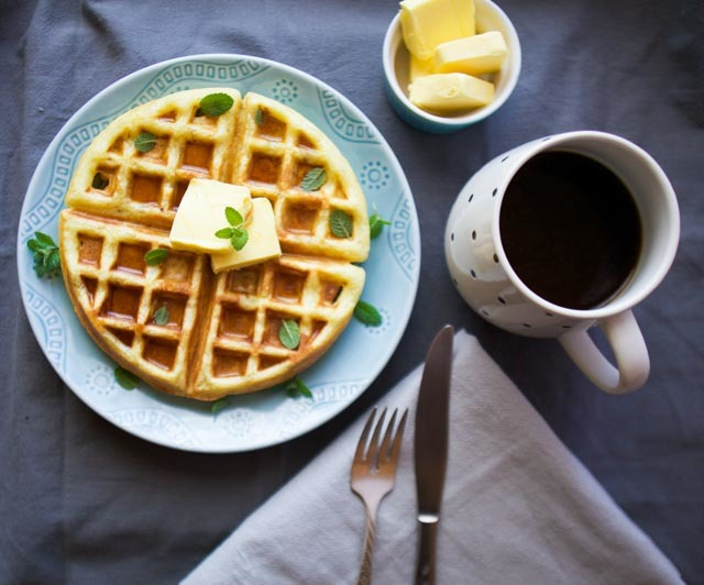Lazy Morning Waffles