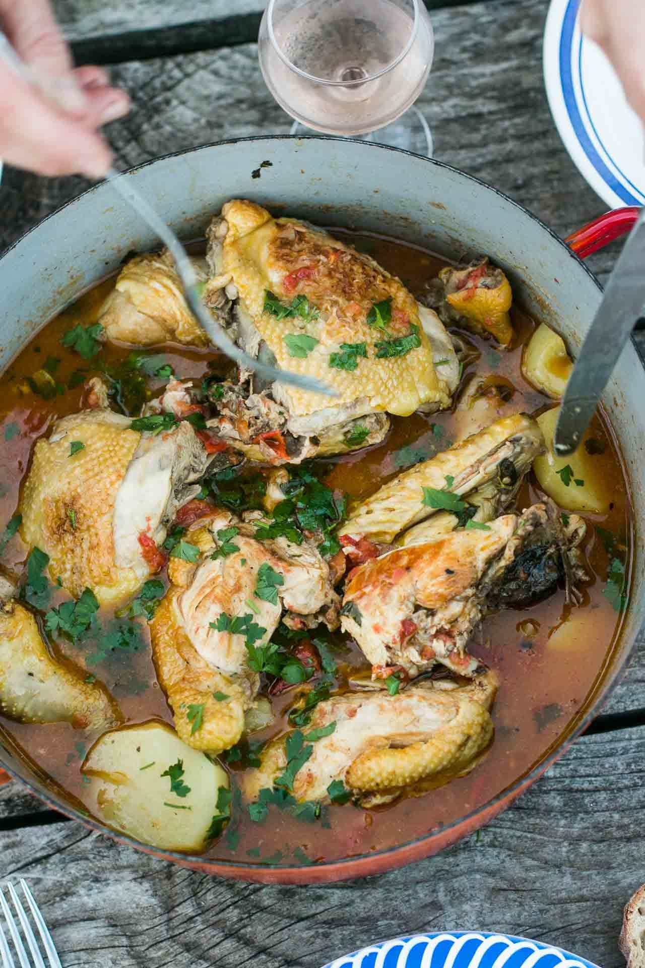 Provencal Chicken with Pastis recipe