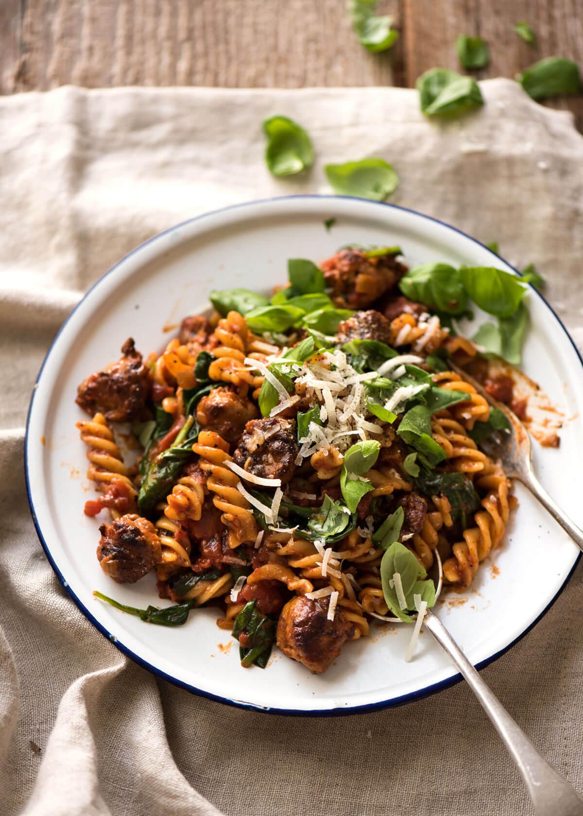 Sausage Pasta & Choose the next FREE eCookbook! | RecipeTin Eats