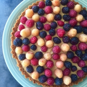 Raspberry Vanilla Cream Tart