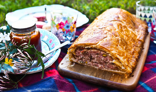 Father s day feast pork pistachio sausage roll