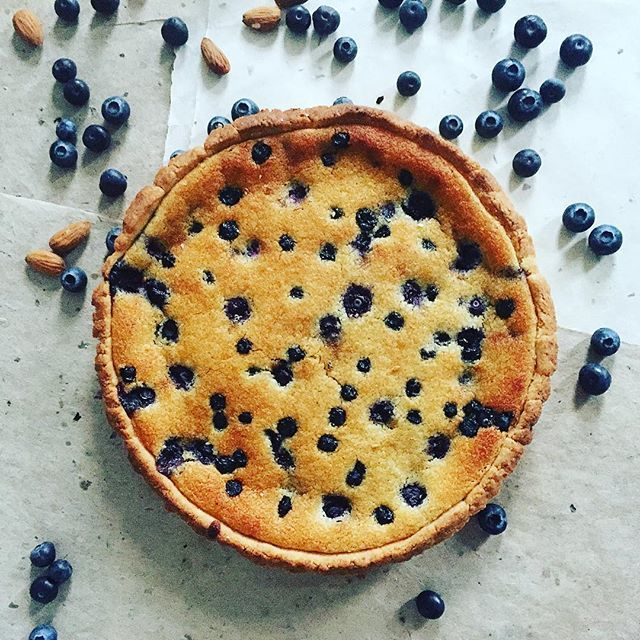 Blueberry Frangipane Tart