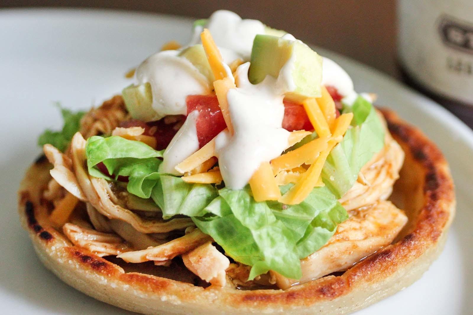 BBQ Pulled Chicken Sopes Recipe | SimplyRecipes.com