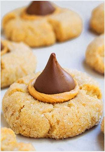 Easy peanut butter blossoms recipe