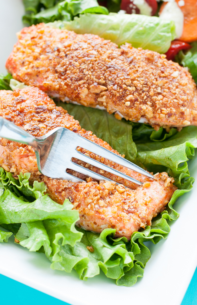 Sriracha Almond Crusted Salmon