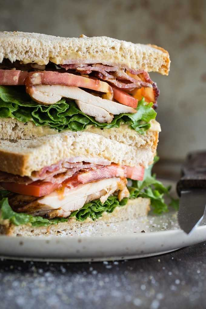 Bacon Lettuce Tomato (BLT) with Grilled Chicken - Foodness Gracious