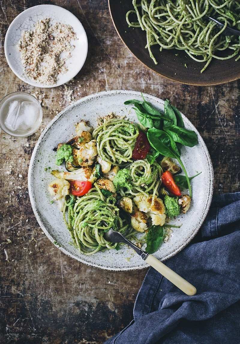 Vegan Cauliflower Pasta Pesto