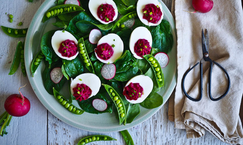 Go pink with hot pink devilled eggs