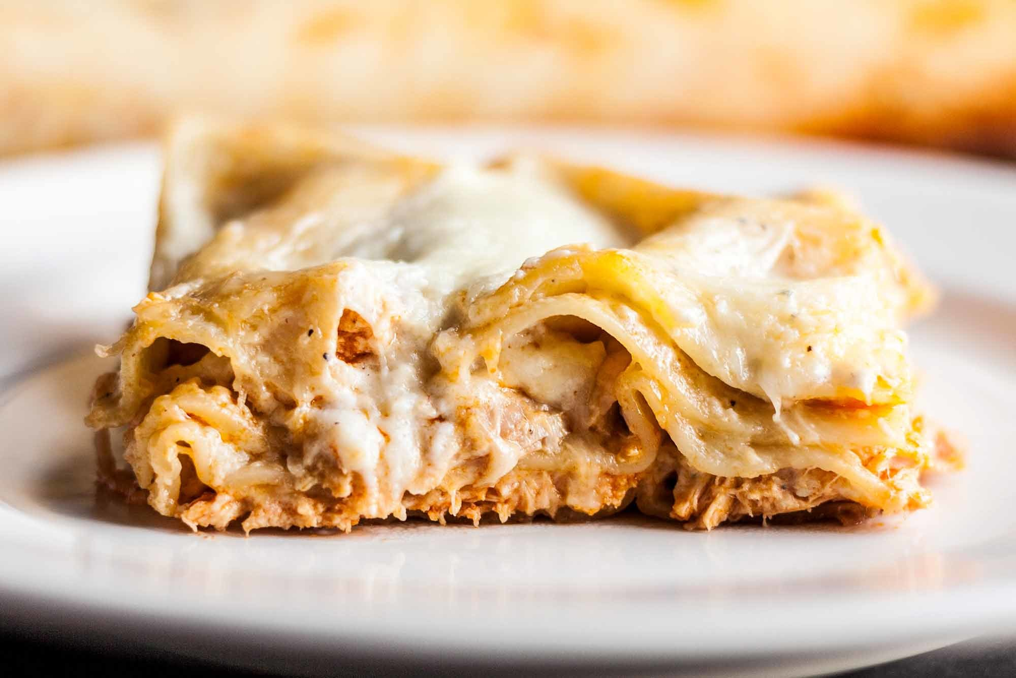 Buffalo Chicken Lasagna Recipe | SimplyRecipes.com
