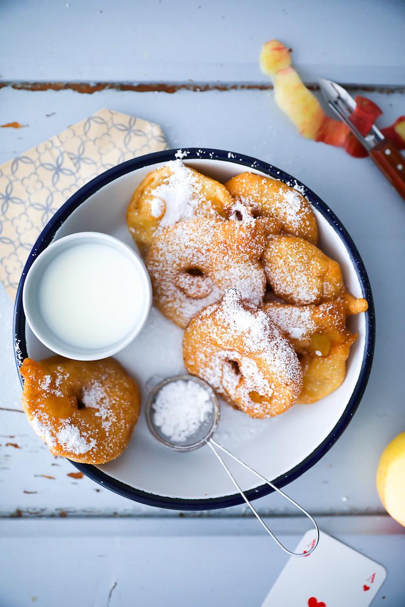 Apple Fritters Rezept | Zucker, Zimt und Liebe