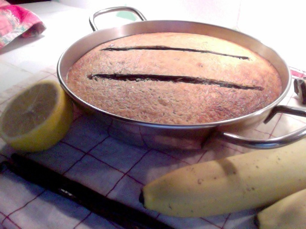 Cake banane citron vanille sans gluten