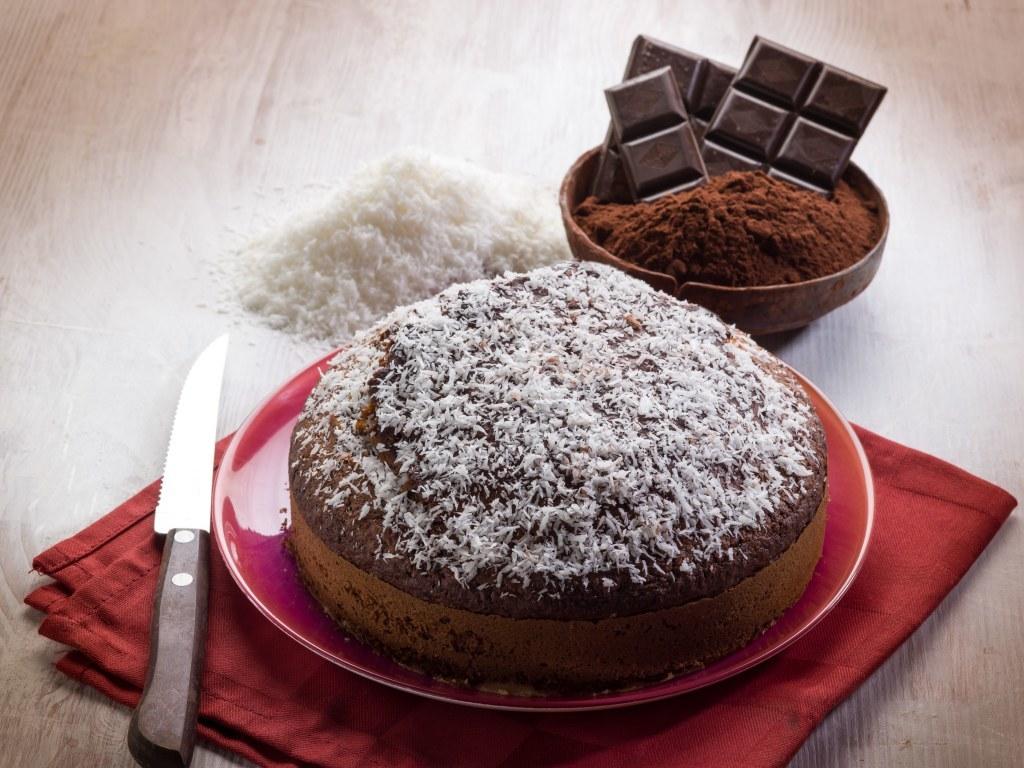 Gâteau facile chocolat et coco