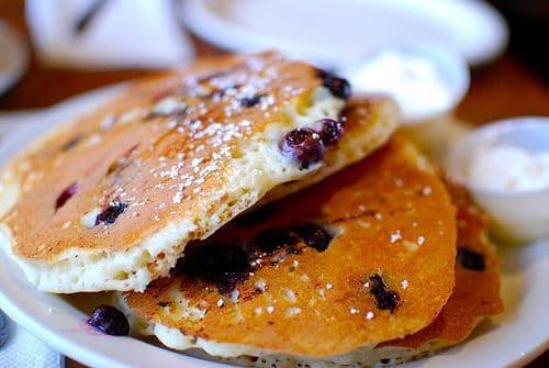 Recette de pancake aux myrtilles – bleuets