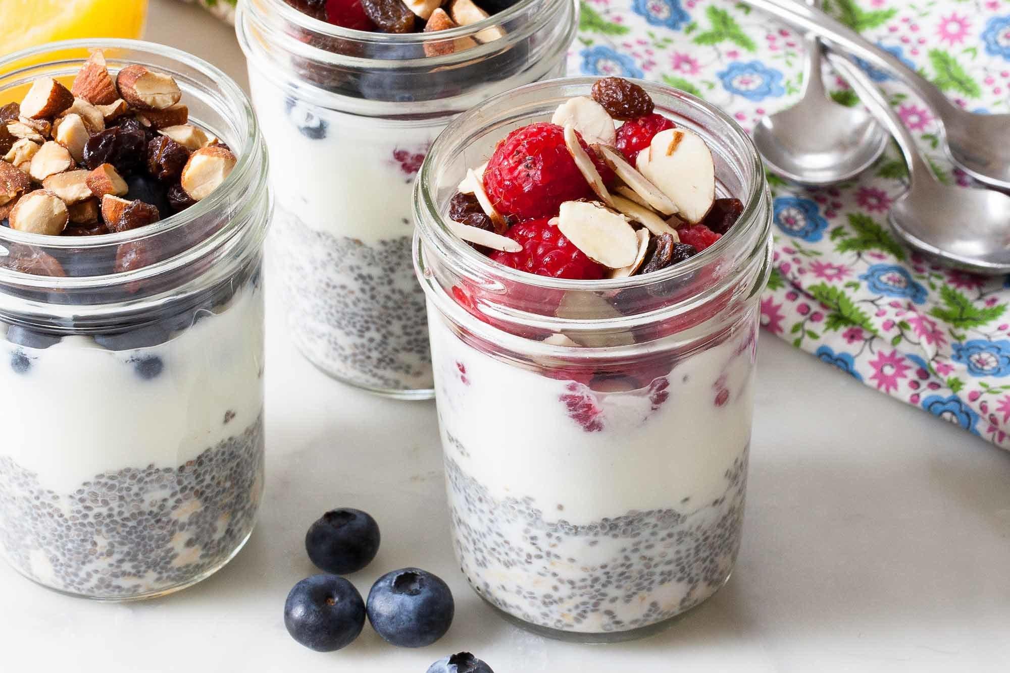Grab-and-Go Oatmeal Chia Cups Recipe | SimplyRecipes.com