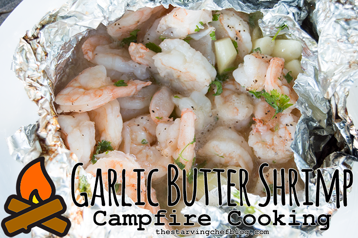 Garlic Butter Shrimp Packet | Campfire Cooking