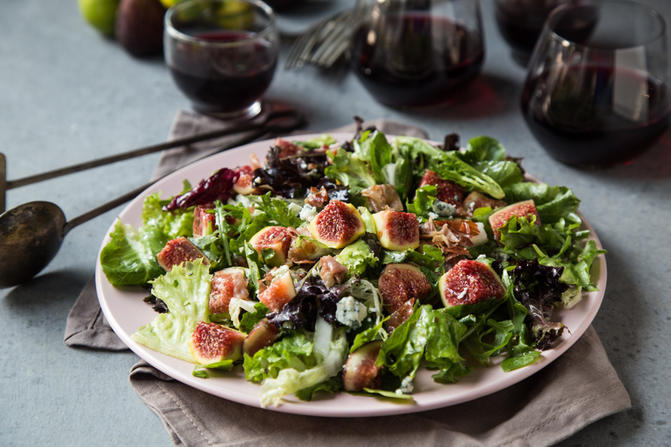 Crispy Prosciutto Fig Salad with Lemon, Chive and Honey Dressing | Fake Food Free