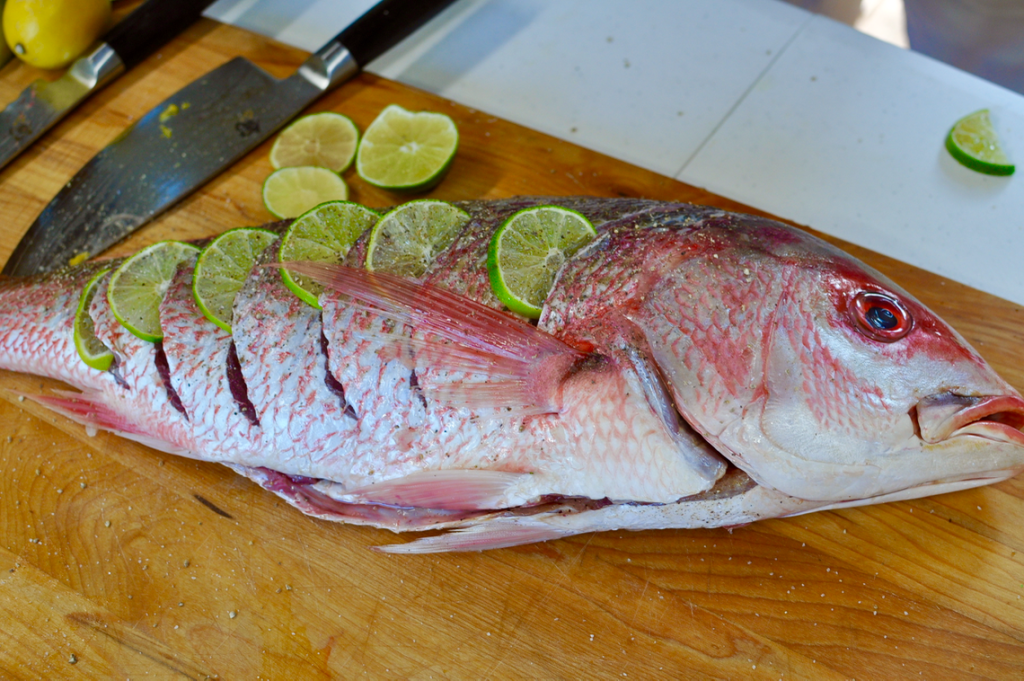Whole Red Snapper - Stuffed, Sauced and Smoked | GrillinFools