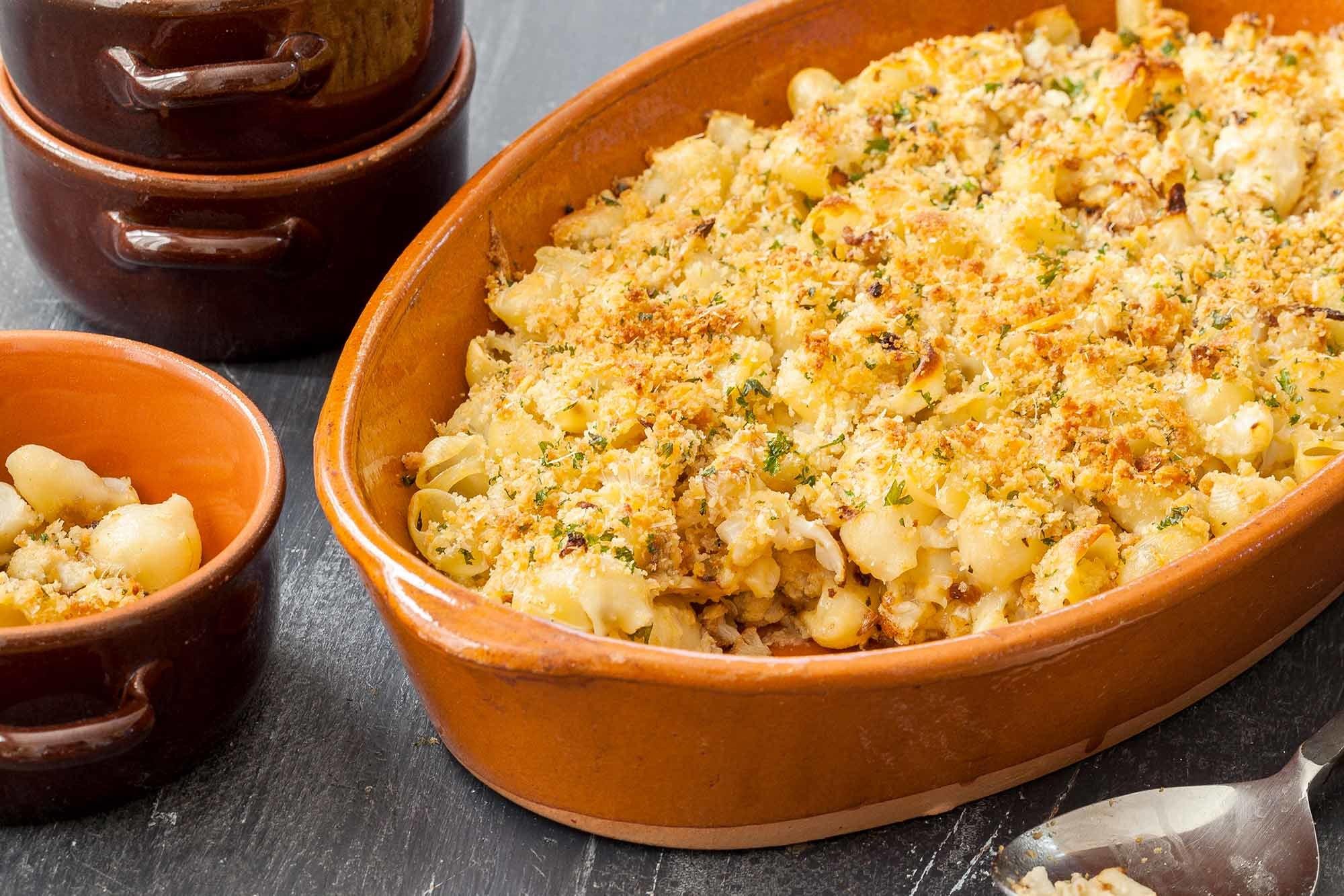 Cauliflower Pasta Bake Recipe | SimplyRecipes.com