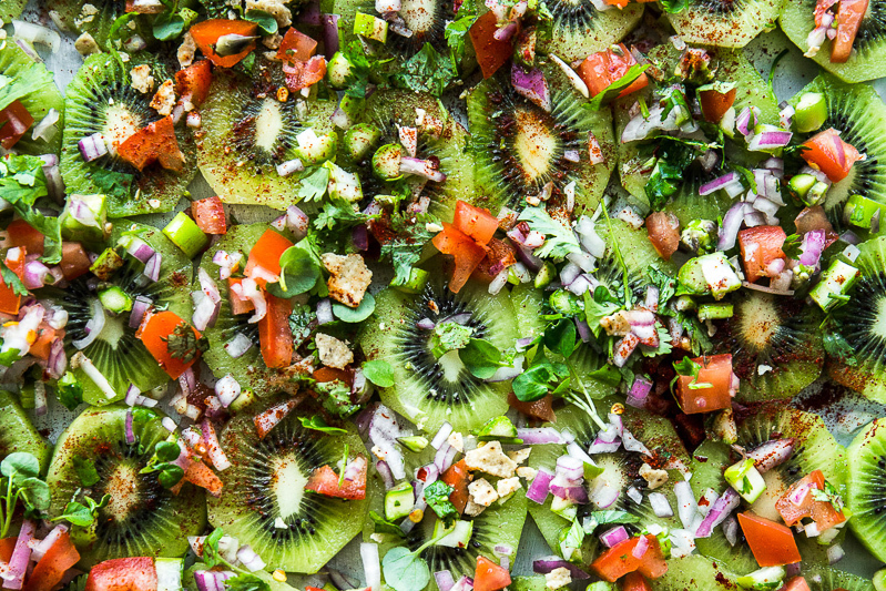 Raw Kiwi Fruit Nachos - Cook Republic
