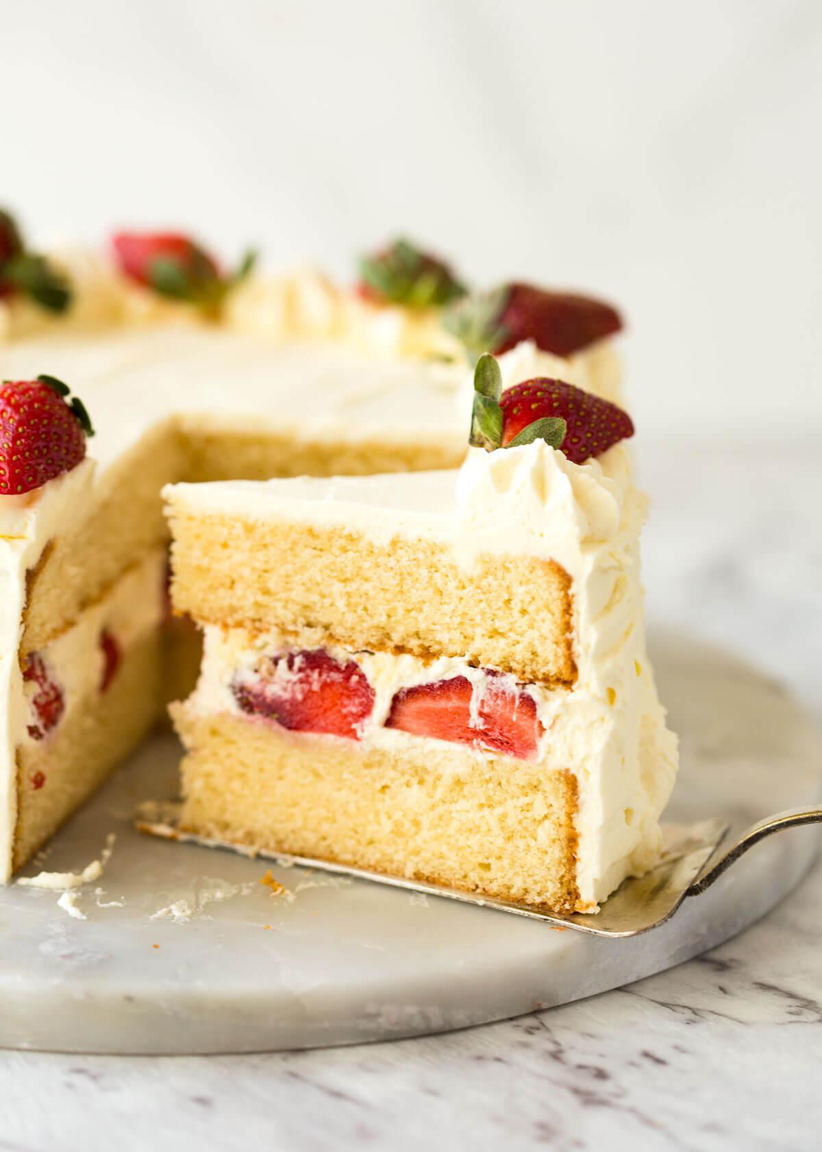 Vanilla Sponge Cake | RecipeTin Eats