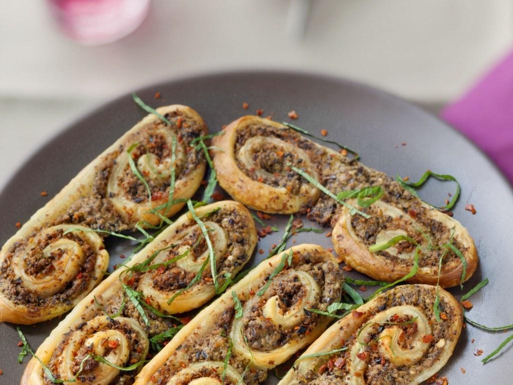 Palmiers apéritifs olive feta