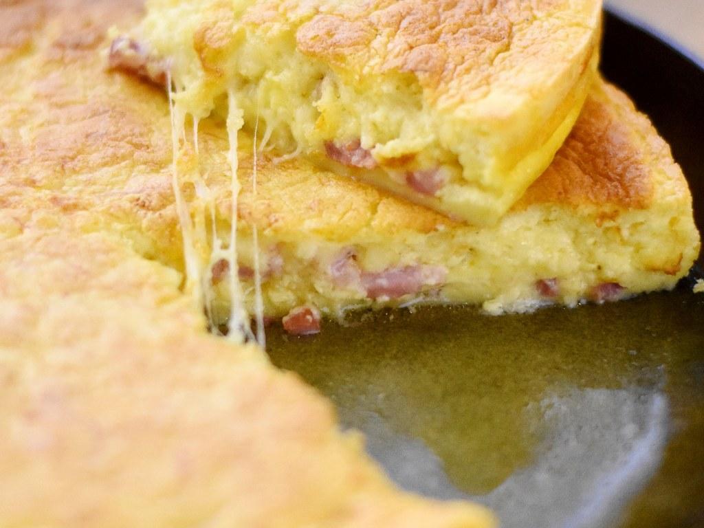 Quiche au fromage façon gâteau magique